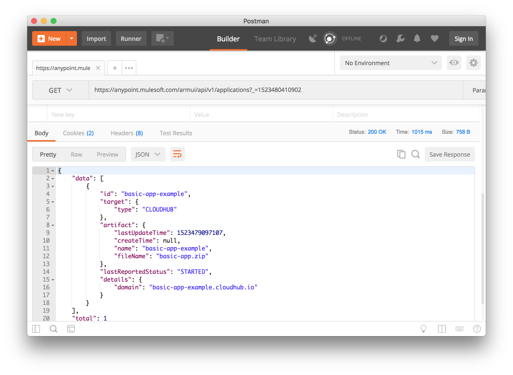Using a web browser and REST client to help understand API usage