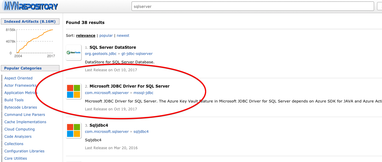 Which SQL Server Driver to Use with Maven?