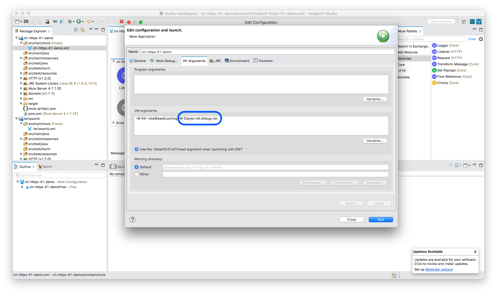 How to enable SSL debug logging in Mulesoft Products