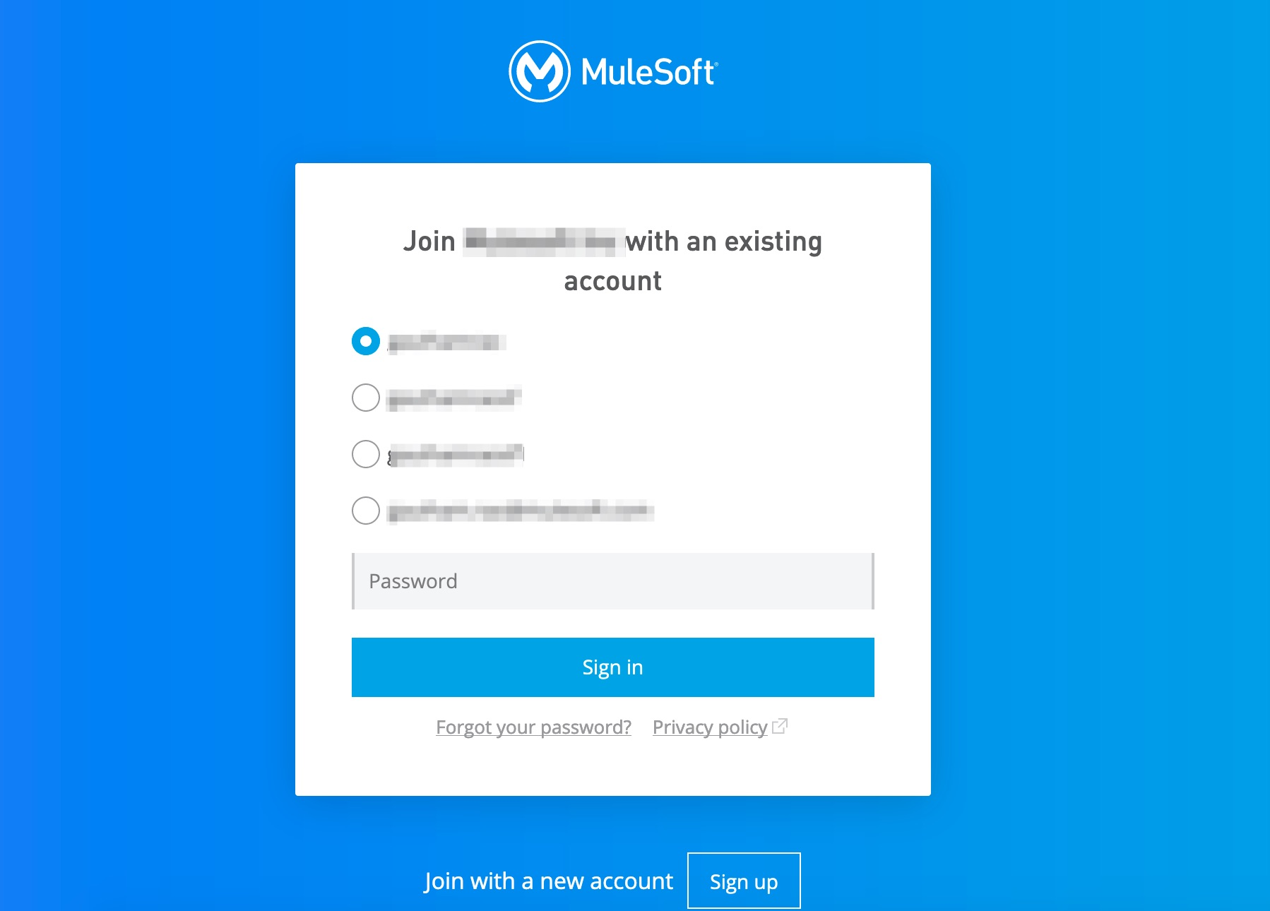 Mulesoft Trial Account