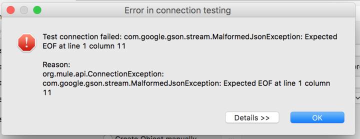 Connector exception com google gson stream