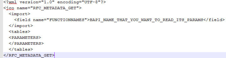 How to prepare SAP Object for variable BAPI functions