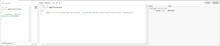 Dataweave datetime format