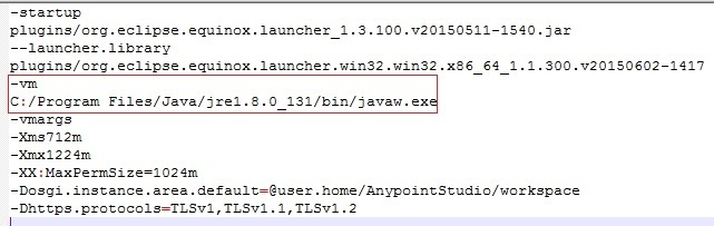 Error launching anypoint studio