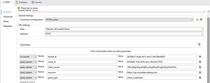Mule API call body parameters